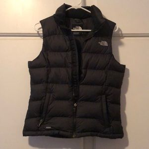 Ladies black down vest by The North Face